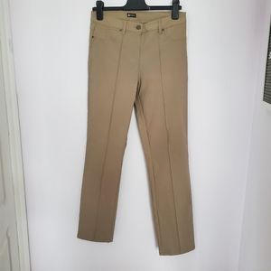 Haggar beige high rise skinny dress pants sz 8